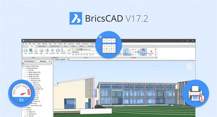 BricsCAD V17.2: aumente até 5x a velocidade do trabalho, acesso mais rápido a comandos e a novos fluxos de trabalho!
