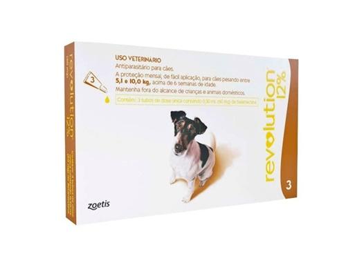 Revolution c/3 60mg Cães 5 à 10kg