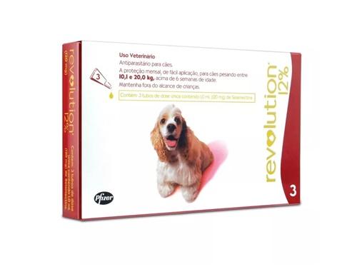 Revolution c/3 120mg Cães 10 à 20kg