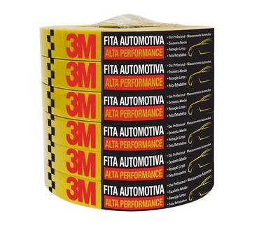 FITA CREPE 18MMX50M AMARELA AUTOMOTIVA