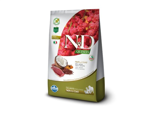 N&D Quinoa Canine Adult Skin Pato 800g