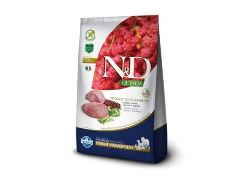 N&D Quinoa Canine Weight Cordeiro 800g