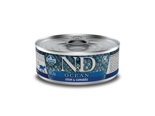 N&D Feline Lata Ocean Atum E Camarao 80g