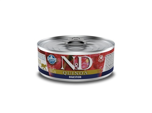N&D Feline Lata Quinoa Digestion Cordeiro 80g