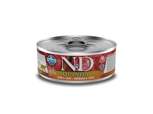 N&D Feline Lata Quinoa Skin Arenque 80g