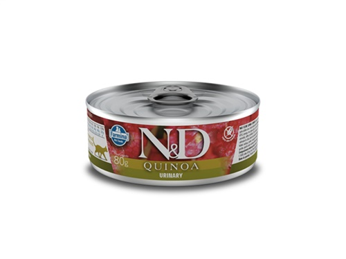 N&D Feline Lata Quinoa Urinary Pato 80g