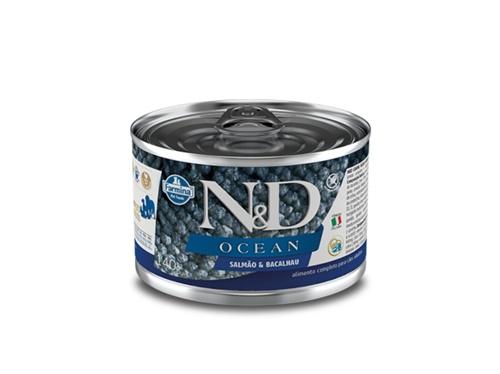 N&D Canine Lata Ocean Salmão e Bacalhau 140g