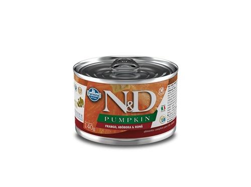 N&D Canine Lata Pumpkin Frango 140g