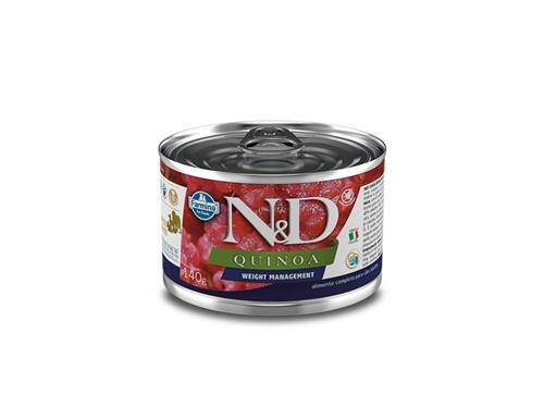 N&D Canine Lata Quinoa Weight Cordeiro 140g