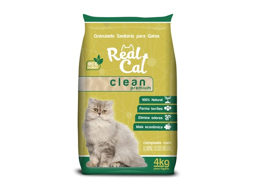 Real Cat Clean Premium Floral Granulado Sanitário 4kg