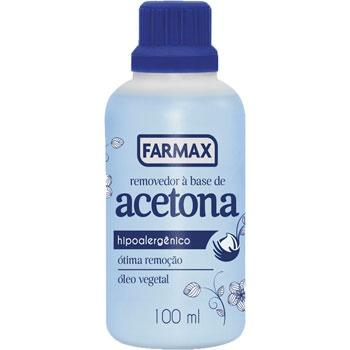 ACETONA 100ML FARMAX REMOVEDOR