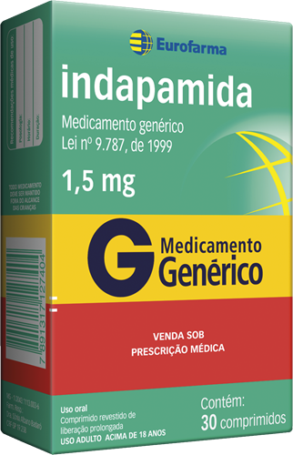 INDAPAMIDA 1,5MG 30CPD G EUR