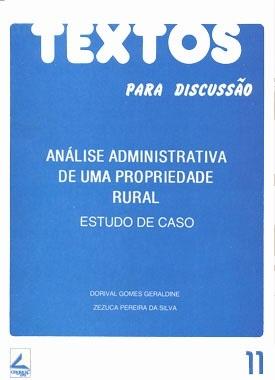 Análise administrativa de uma propriedade rural: estudo de caso