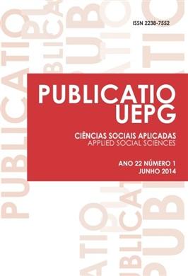 REVISTA PUBLICATIO - Ciências Sociais Aplicadas - 2014 - 22(1)