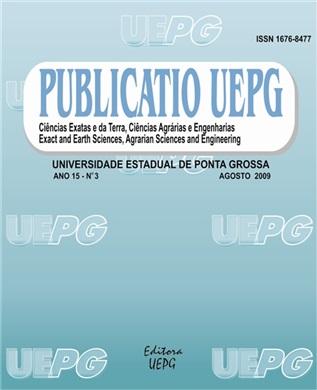 REVISTA PUBLICATIO Ciências Exatas e da Terra, Ciências Agrárias e Engenharias - 2009 - 15(3)