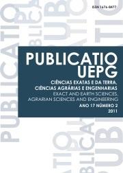 REVISTA PUBLICATIO Ciências Exatas e da Terra, Ciências Agrárias e Engenharias - 2011 - 17(2)