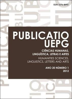 REVISTA PUBLICATIO Ciências Humanas, Linguística, Letras e Artes - 2012 - 20(1)