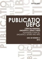 REVISTA PUBLICATIO Ciências Humanas, Linguística, Letras e Artes - 2012 - 20(2)