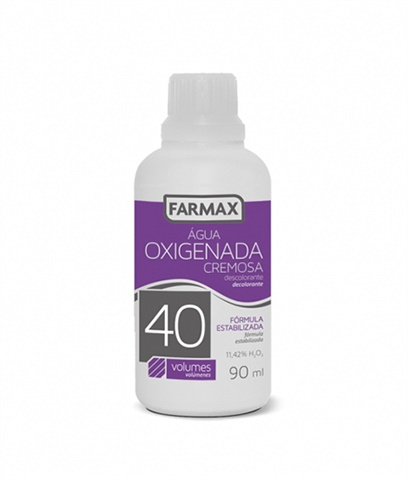 ÁGUA OXIGENADA CREMOSA FARMAX - 90ML 40 VOLUME C/12 UNIDADES