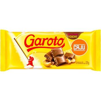 CHOCOLATE GAROTO BARRA CAST DE CAJU 90 G
