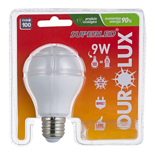 LAMPADA SUPERLED OUROLUX 9 W BIV