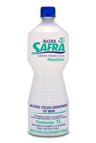 ALCOOL HIDRATADO 70° SAFRA 1 L