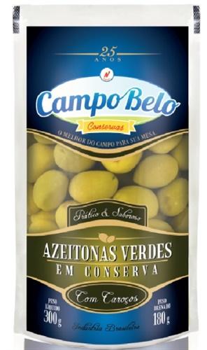 AZEITONA INTEIRA CAMPO BELO SACHE 180 G