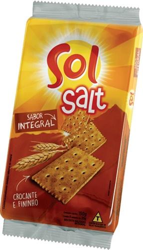 JM BISCOITO SOL SALT INTEGRAL 150 G