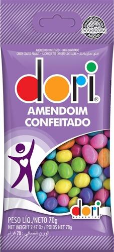 AMENDOIM COLORIDO DORI 70 G