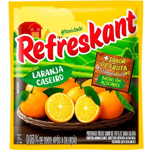 REFRESCO REFRESKANT 25G LARANJA CASEIRO - 1L