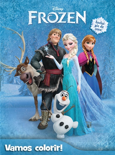 Livro Disney Vamos Colorir - Frozen - DCL