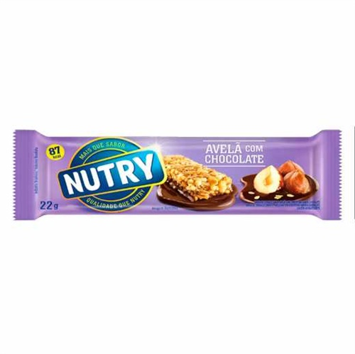 BARRA DE CEREAIS NUTRY AVELA/CHOC 22 G