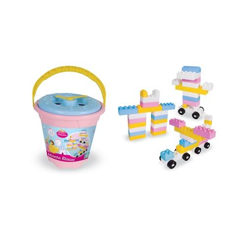 Monta Blocos Princesas - 52 peças - Nig Brinquedos