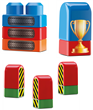Blocos de Montar Tchuco Blocks Truck - 56 Peças - Samba Toys