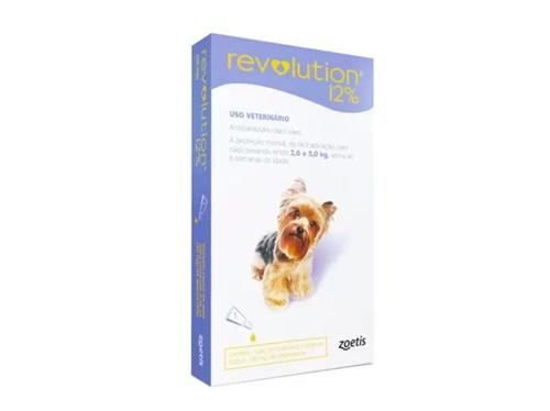Revolution Indiv.  30mg Cães 2,6 à 5kg