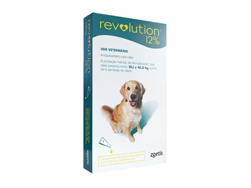 Revolution Indiv. 240mg Cães 20 à 40kg