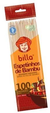 ESPETO DE BAMBU BILLA 25 CM C/50