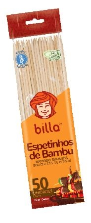 ESPETO DE BAMBU BILLA 30 CM C/50
