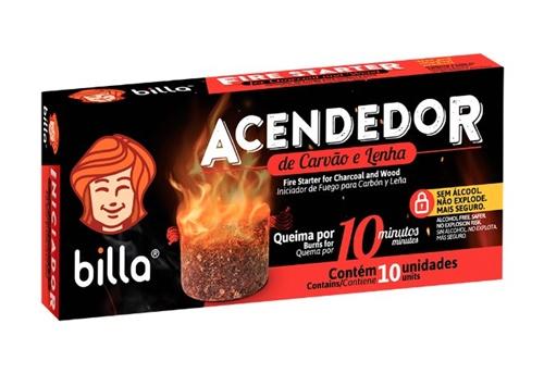 ACENDEDOR DE CARVAO BILLA C/10 UN