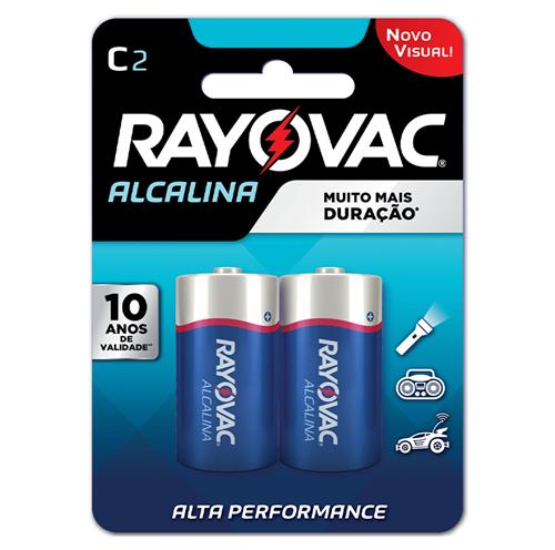 RAYOVAC ALCALINA MÉDIA C/2  | CAIXA  C/ 12X2
