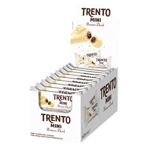 DOCE TRENTO MINI CHOCOL BRANCO DARK 16G
