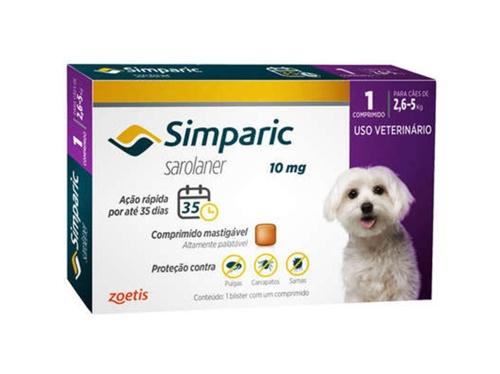 Simparic c/ 1 comprimidos 10mg - 2,6 A 5kg