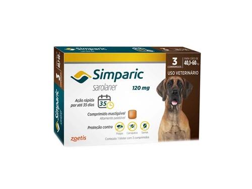 Simparic c/ 1 comprimidos 120mg - 40,1 A 60kg