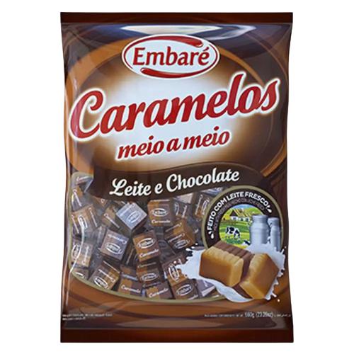 BALA DE CARAMELO EMBARE 660 G LEITE/CHOC