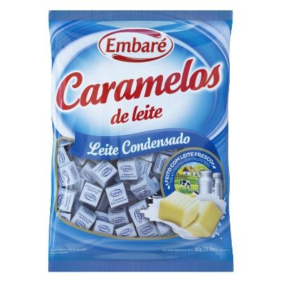 BALA DE CARAMELO EMBARE 660 G LEITE COND