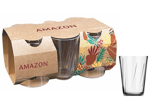 Copo 190mL Amazon com 6 peças Colorex