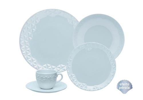 Aparelho de Jantar 20 peças Porcelana Mia Cristal Oxford
