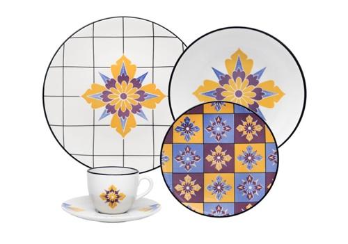 Aparelho de Jantar 20 peças Porcelana Coup Grid Oxford