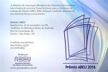 ABEU convida editoras associadas a participarem da cerimônia de entrega do Prêmio ABEU 2016