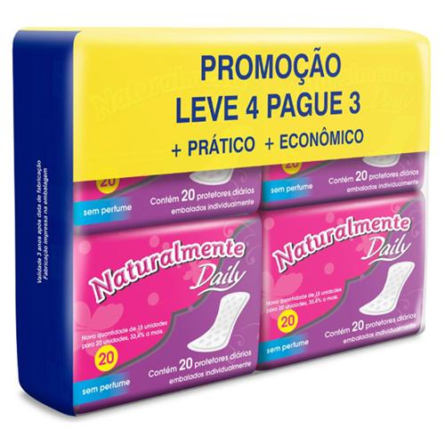 ABSORVENTE NATURALMENTE PROTETOR DIÁRIO LEVE 4 PAGUE 3